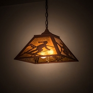 Meyda Tiffany 190326 Alpine Country Amber Mica Rust Pendant Lighting