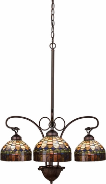 Meyda Tiffany 19037 Tiffany Candice Tiffany Mahogany Bronze Mini Lighting Chandelier