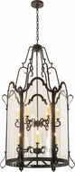 Meyda Tiffany 190487 Dubrek Old Wrought Iron Clear Glass Foyer Lighting Fixture