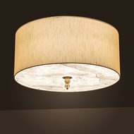 Meyda Tiffany 190705 Cilindro Brass Tint LED Flush Mount Light Fixture