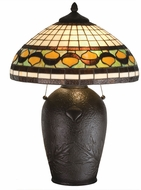 Meyda Tiffany 19169 Tiffany Acorn Tiffany Bronze Table Top Lamp