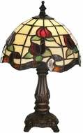 Meyda Tiffany 19189 Roseborder Tiffany Side Table Lamp