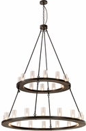 Meyda Tiffany 192461 Loxley Contemporary Clear Seeded Glass Timeless Bronze Chandelier Lighting