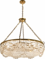 Meyda Tiffany 192513 Sardinia China Crystal Transparent Gold Lighting Chandelier
