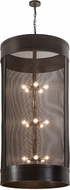 Meyda Tiffany 192799 Cilindro Golpe Modern Timeless Bronze Foyer Light Fixture