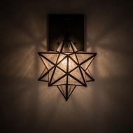 Meyda Tiffany 192944 Moravian Star Modern Craftsman Brown Wall Light Sconce