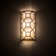 Meyda Tiffany 193033 Cilindro Contemporary Gold Powdercoat LED Wall Lighting Fixture