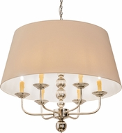 Meyda Tiffany 193402 Biscayne Natural Polished Nickel Chandelier Light