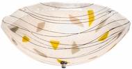 Meyda Tiffany 193695 Metro Fusion Ramoscelli Modern White Root Beer Fractures Flush Mount Ceiling Light Fixture