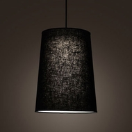 Meyda Tiffany 194177 Cilindro Textured Black LED Drum Pendant Lighting