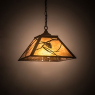 Meyda Tiffany 194678 Whispering Pines Rustic Oil Rubbed Bronze Hanging Light