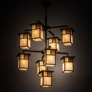 Meyda Tiffany 194824 Hyde Park Craftsman Craftsman Brown Chandelier Light