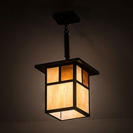 Meyda Tiffany 194825 Hyde Park Mission Craftsman Brown Mini Hanging Pendant Light