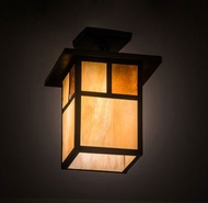 Meyda Tiffany 194849 Hyde Park Craftsman Craftsman Brown Mini Pendant Hanging Light