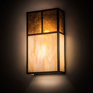 Meyda Tiffany 194854 Hyde Park Modern Craftsman Brown Wall Sconce