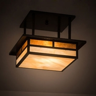 Meyda Tiffany 194859 Hyde Park Mission Craftsman Brown Ceiling Lighting