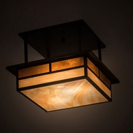 Meyda Tiffany 194862 Hyde Park Craftsman Craftsman Brown Ceiling Light