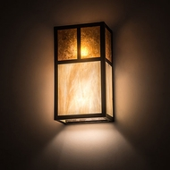 Meyda Tiffany 194871 Hyde Park Craftsman Craftsman Brown Wall Lamp