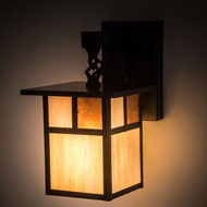 Meyda Tiffany 194877 Hyde Park Mission Craftsman Brown Sconce Lighting