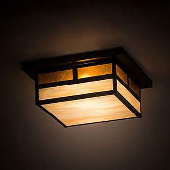 Meyda Tiffany 194880 Hyde Park Mission Craftsman Brown Ceiling Lighting Fixture