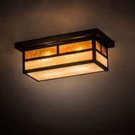 Meyda Tiffany 194882 Hyde Park Mission Craftsman Brown Ceiling Light Fixture
