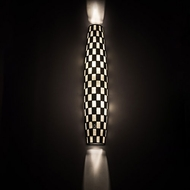 Meyda Tiffany 195693 Checkers Contemporary Halogen Wall Sconce Lighting