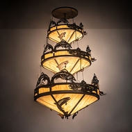 Meyda Tiffany 195815 Catch of the Day Rustic Antique Copper Lighting Pendant