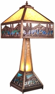 Meyda Tiffany 19632 Deer Lodge Tiffany Craftsman Brown Table Lamp