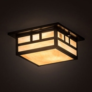 Meyda Tiffany 196657 Hyde Park Mission Craftsman Brown Flush Mount Lighting Fixture