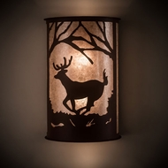 Meyda Tiffany 197062 Deer at Lake Country Antique Copper Wall Sconce Lighting