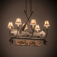 Meyda Tiffany 197097 Personalized Country Antique Copper / Natural Wood Kitchen Island Lighting