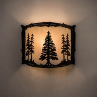 Meyda Tiffany 197101 Tall Pines Rustic Antique Copper Wall Light Sconce