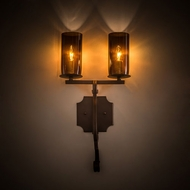 Meyda Tiffany 197285 Piero Mahogany Bronze Wall Sconce