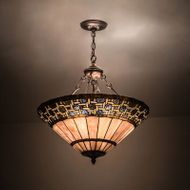 Meyda Tiffany 197687 Ilona Tiffany Mahogany Bronze Halogen Pendant Lighting