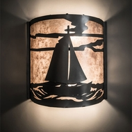 Meyda Tiffany 197788 Sailboat Country Nickel Lighting Sconce