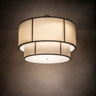 Meyda Tiffany 197840 Cilindro Timeless Bronze LED Drum Pendant Lamp