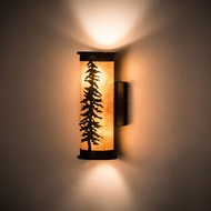Meyda Tiffany 197883 Tamarack Rustic Black Textured Wall Sconce Lighting