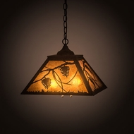 Meyda Tiffany 197901 Whispering Pines Rustic Oil Rubbed Bronze Hanging Lamp