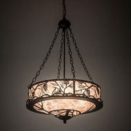 Meyda Tiffany 197916 Whispering Pines Rustic Bronze LED Drum Hanging Light