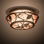Meyda Tiffany 197919 Whispering Pines Country Bronze LED Ceiling Light