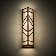 Meyda Tiffany 198072 Santa Fe Contemporary Rust Lighting Wall Sconce