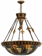 Meyda Tiffany 19808 Fleur-de-lis 26 inches wide Tiffany Inverted Ceiling Light