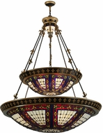 Meyda Tiffany 19833 Fleur-de-lis Tiffany Two Tier Inverted Ceiling Light