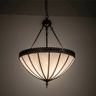 Meyda Tiffany 198338 Gothic Craftsman Brown Pendant Hanging Light