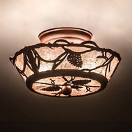 Meyda Tiffany 198770 Whispering Pines Country Copper Ceiling Lighting Fixture