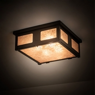 Meyda Tiffany 198777 Quezon Timeless Bronze LED Flush Lighting