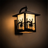 Meyda Tiffany 198825 Seneca Rustic Craftsman Brown Outdoor Wall Mounted Lamp