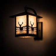 Meyda Tiffany 198827 Seneca Rustic Craftsman Brown Outdoor Wall Lighting Fixture
