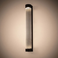 Meyda Tiffany 198852 Cilindro Contemporary Wweathered Brass LED Wall Sconce