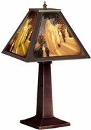 Meyda Tiffany 19899 Maxfield Parrish Tiffany Antique Table Lighting